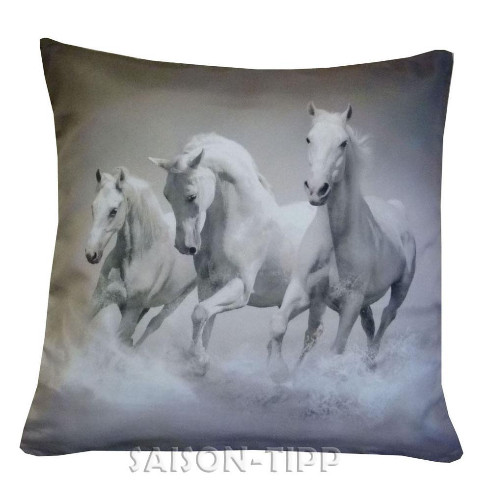 fotoprint kissenh lle 40x40 kissen pferde wolf schimmel garten sofa lounge tiere. Black Bedroom Furniture Sets. Home Design Ideas