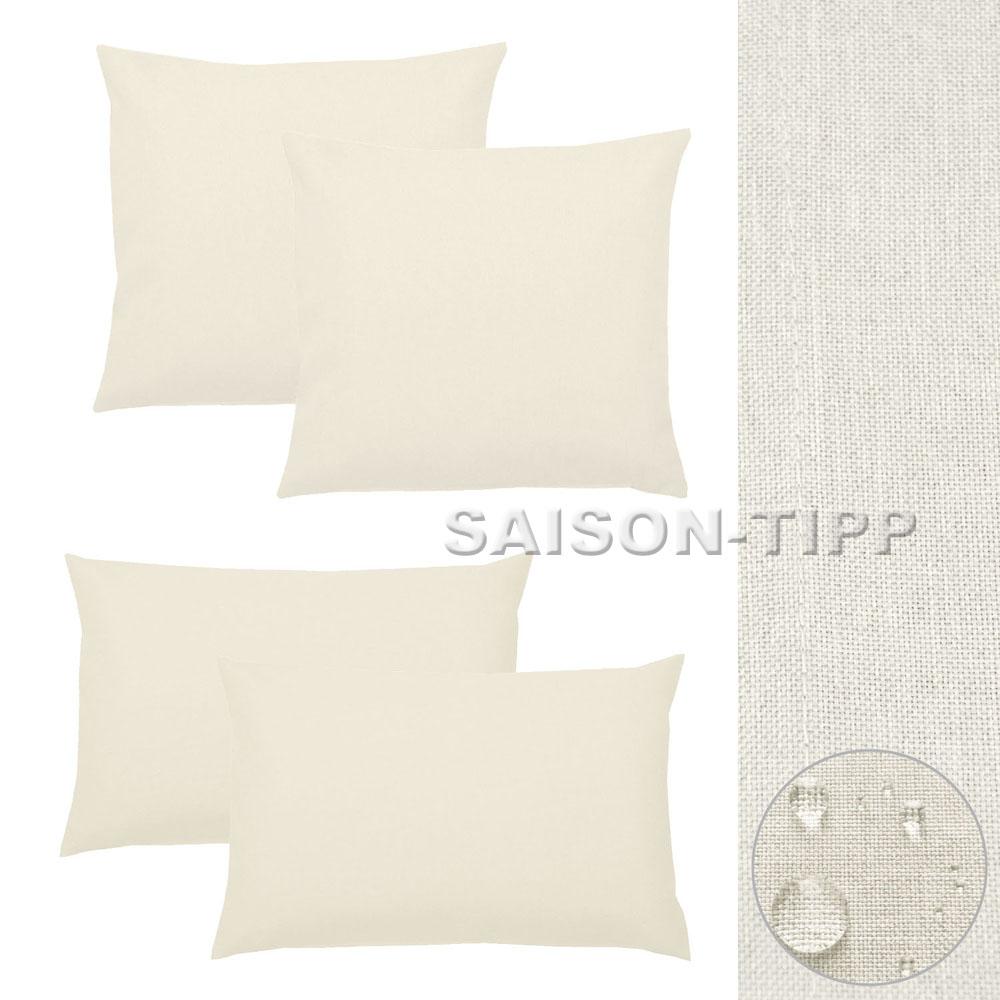 kissenh lle 2 st silver leinen optik einfarbig struktur kissenbezug sofa lounge ebay. Black Bedroom Furniture Sets. Home Design Ideas