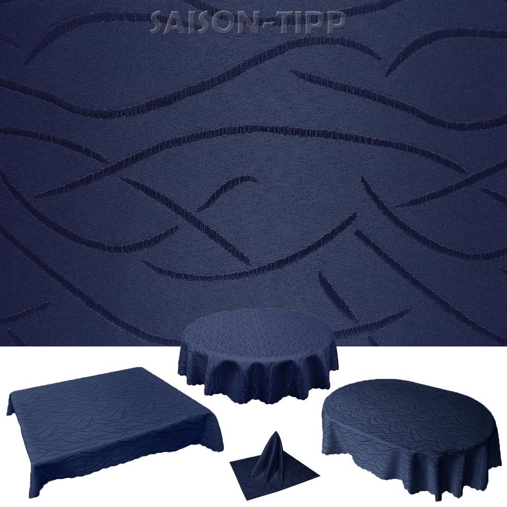 tischdecke swing wellen eckig rund oval modern streifen pflegeleicht b gelfrei ebay. Black Bedroom Furniture Sets. Home Design Ideas