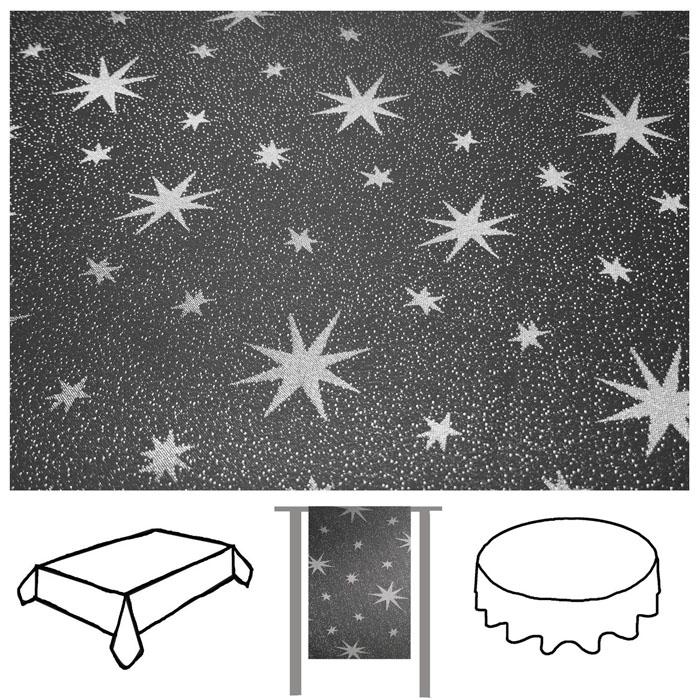 lurex sterne tischdecke tischl ufer gold silber grau rot weihnachten eckig rund ebay. Black Bedroom Furniture Sets. Home Design Ideas