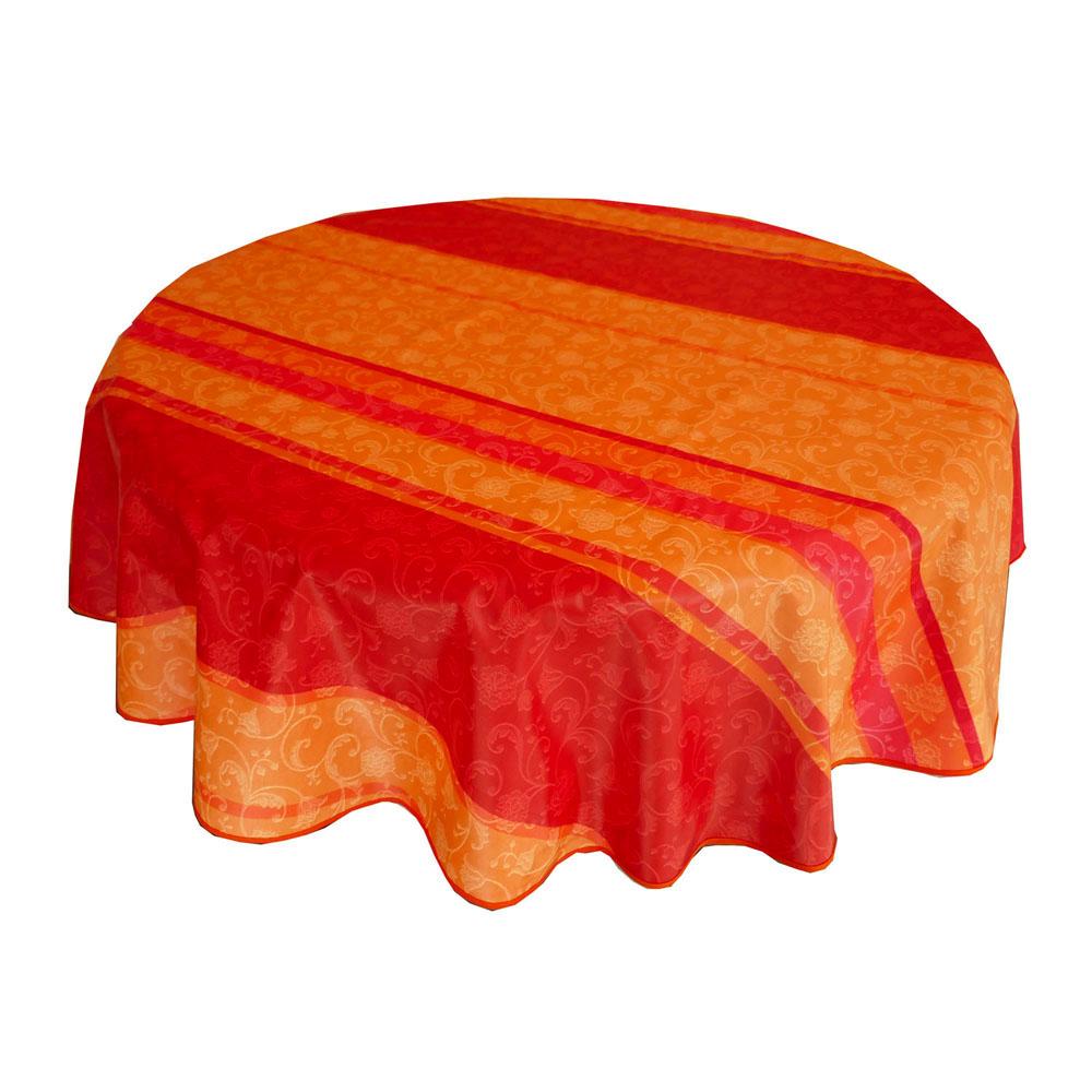 restposten abwaschbar tischdecke d c fix textiler fall rund 160 lisanne orange. Black Bedroom Furniture Sets. Home Design Ideas