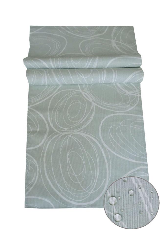 IBIZA Tischläufer Kreise GRAU 40x140 cm Fleckschutz Lotuseffekt