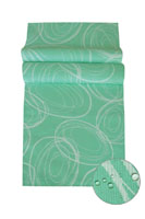 IBIZA Tischläufer Kreise MINT 40x140 cm Fleckschutz Lotuseffekt