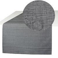 OUTDOOR Tischläufer Fleckschutz GRAU 40x140 cm Abwischbar Garten