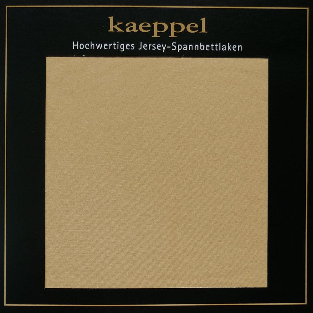 Jersey Spannbettlaken KIESEL Beige Baumwolle Kaeppel #1675 - 342
