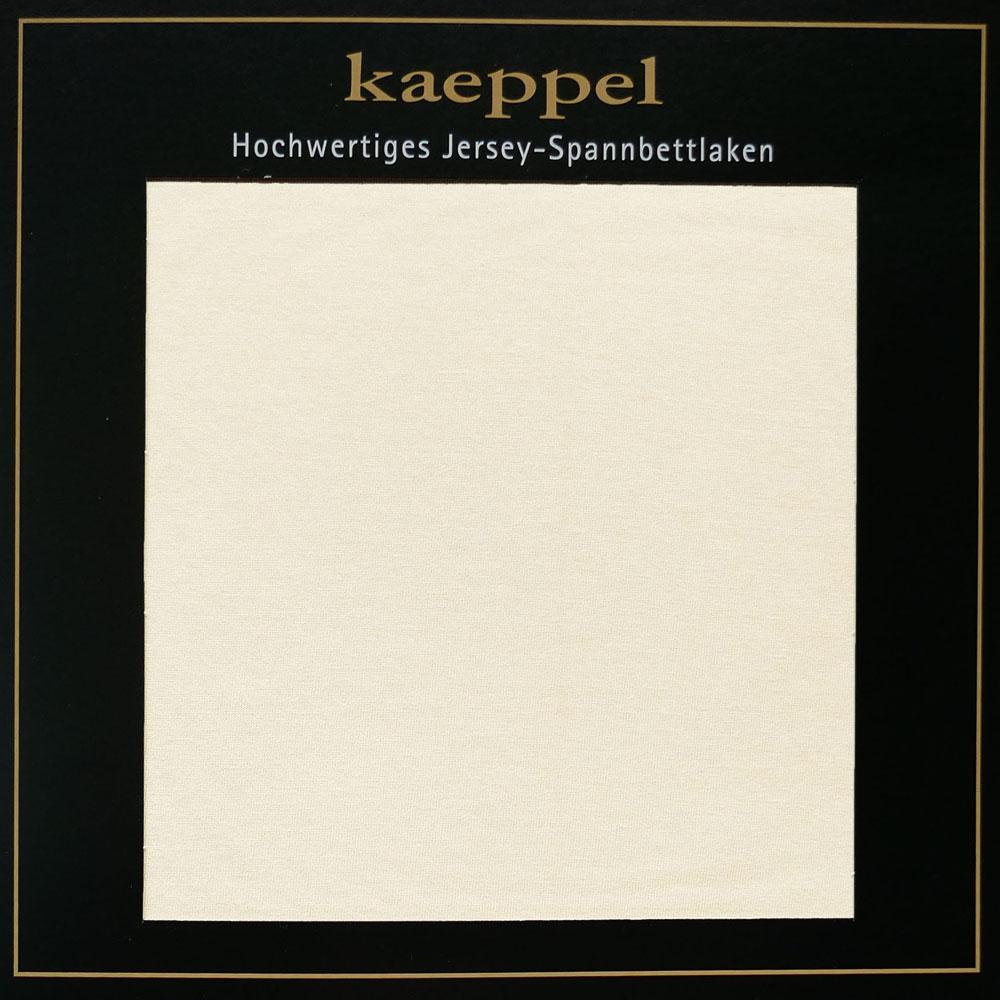 Jersey Spannbettlaken SNOW Creme Baumwolle Kaeppel #1675 - 305