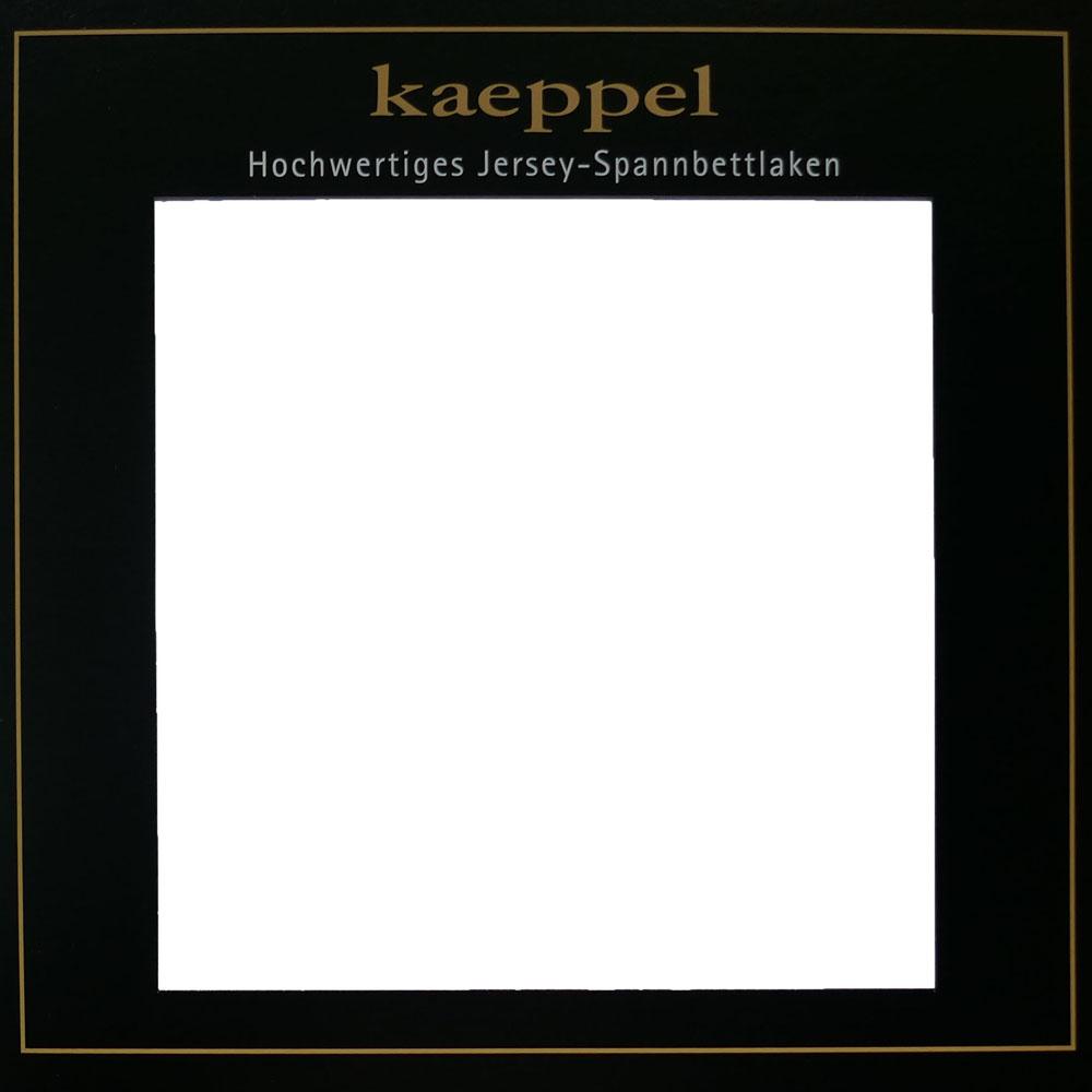 Jersey Spannbettlaken WEISS Baumwolle Kaeppel #1675 - 301