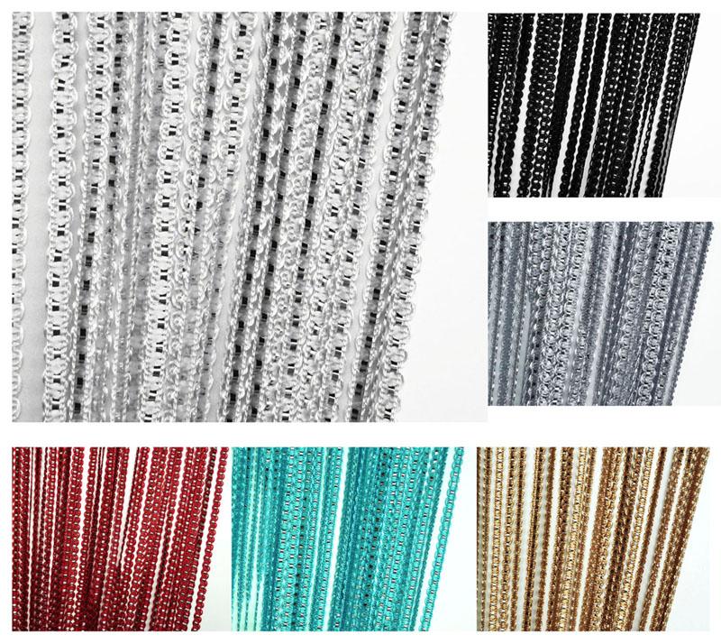 Fadenvorhang Gardine LUREX Farbwahl Fadengardine Türvorhang