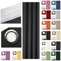 Vorhang LEINEN OPTIK Blickdicht Kräuselband Ösen Einfarbig Struktur