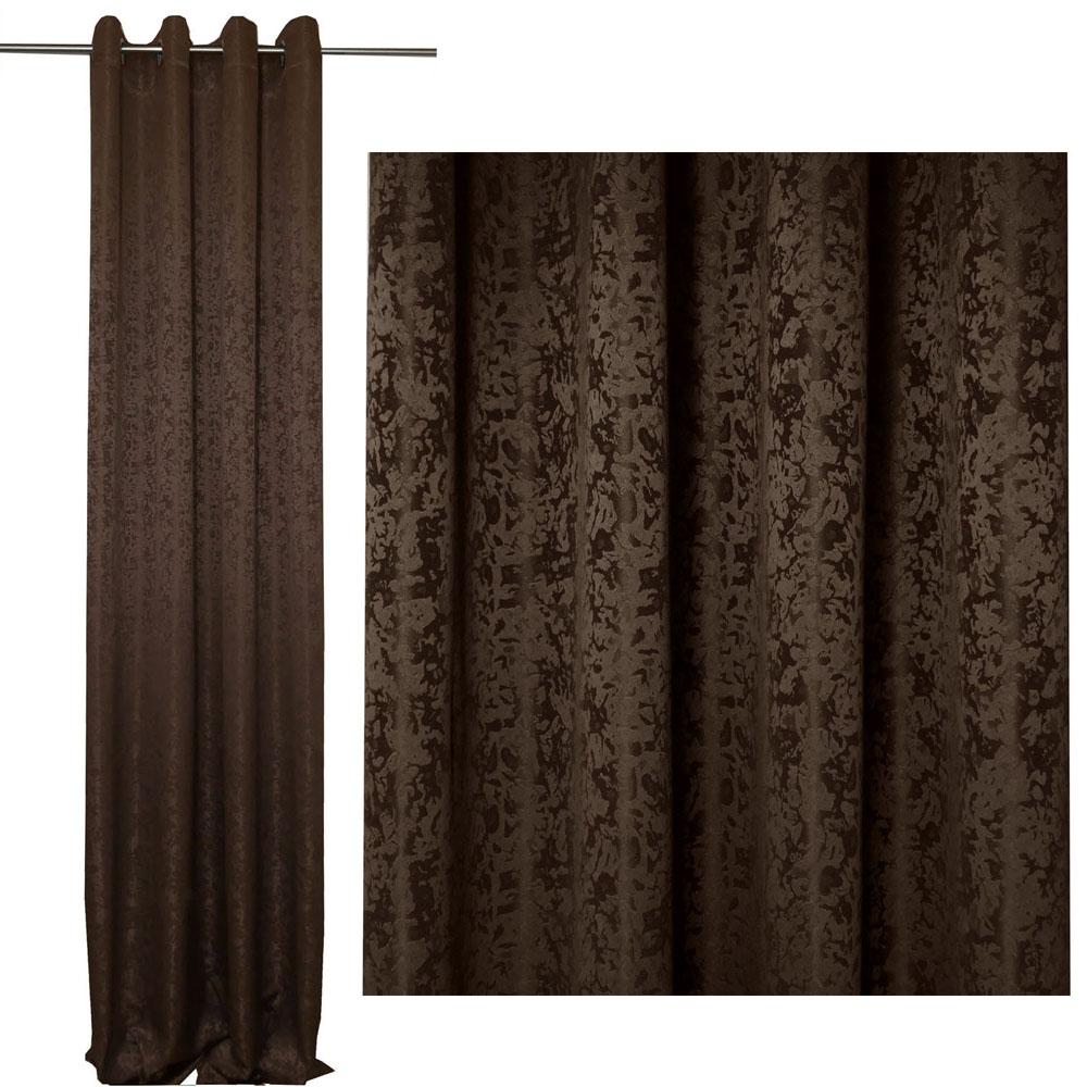 Vorhang Blickdicht MELIERT Marmoriert BRAUN 140x245 cm  #5046