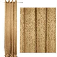 Vorhang Blickdicht MELIERT Marmoriert CAPPUCCINO 140x245 cm  #5046