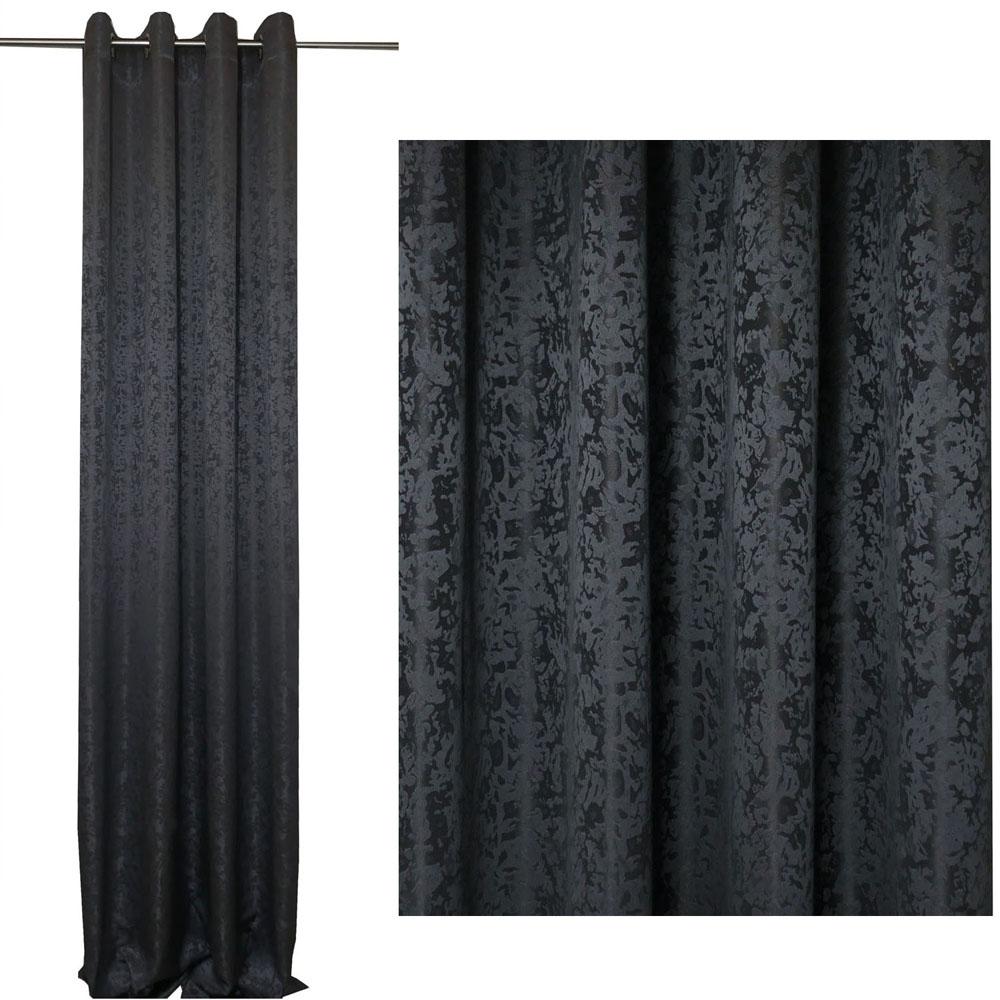 Vorhang Blickdicht MELIERT Marmoriert GRAU 140x245 cm