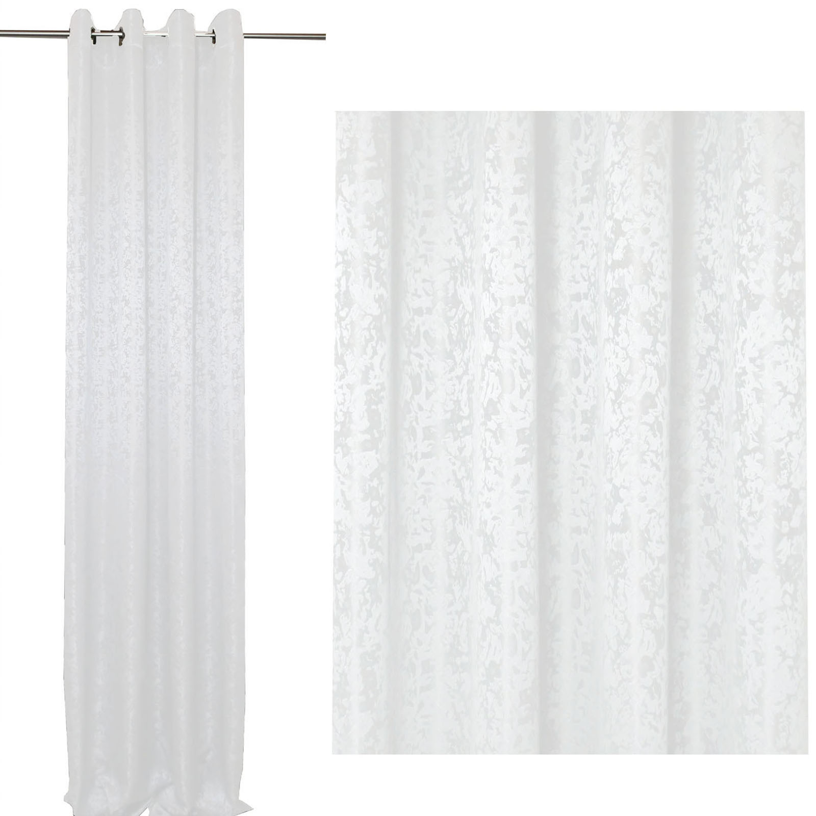 vorhang marmoriert sen 140 x 245 cm blickdicht gardine. Black Bedroom Furniture Sets. Home Design Ideas