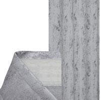 Vorhang MELIERT Kräuselband HELLGRAU 140x240 cm Blickdicht