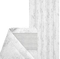 Vorhang MELIERT Kräuselband WEIß 140x240 cm Blickdicht