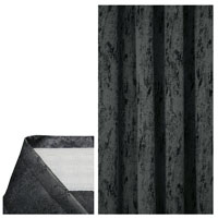 Vorhang MELIERT Kräuselband GRAU 140x240 cm Blickdicht