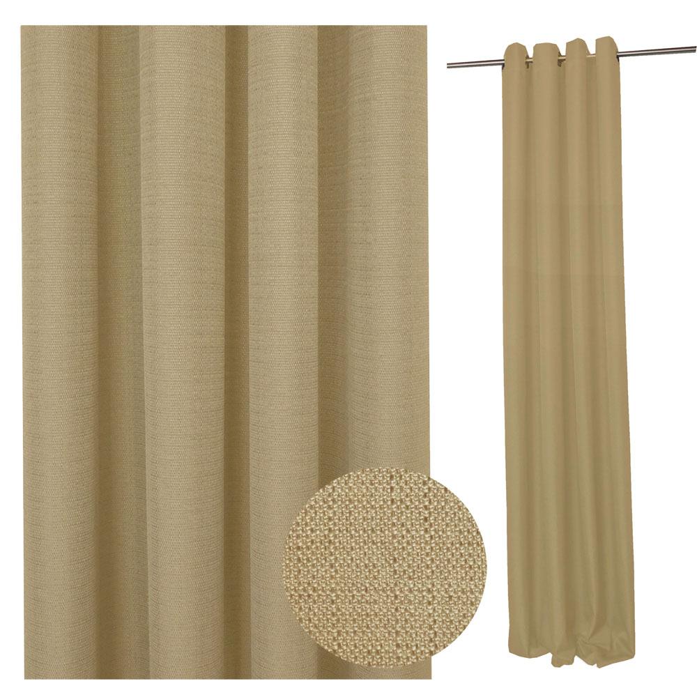 Vorhang STRUKTUR Leinenoptik NATUR 140x245cm  #9017 (linen)