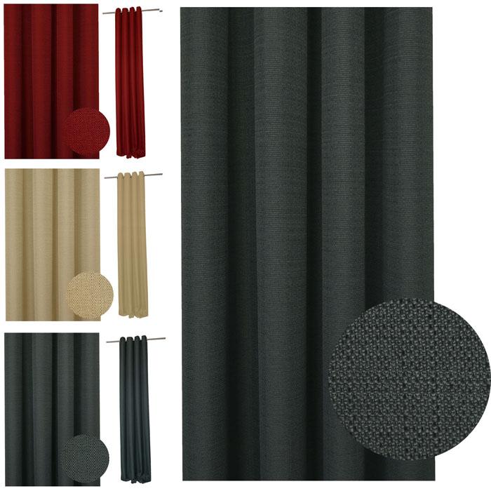Vorhang STRUKTUR Leinenoptik Ösen 140x245 cm Farbwahl