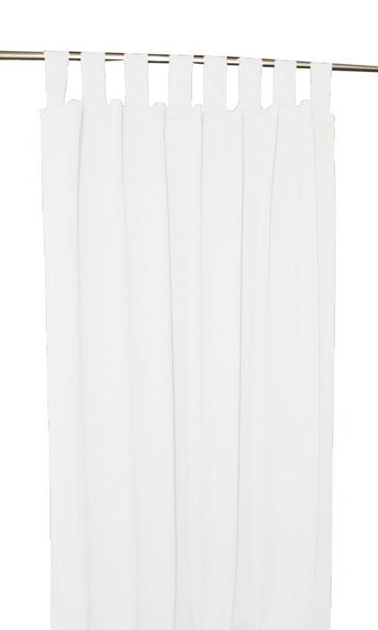 VERDUNKELUNG Schlaufenschal WEISS 140x245 cm Vorhang