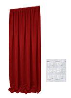 VERDUNKELUNG Vorhang Kräuselband KORALLROT 140x245 cm Glatt #9009