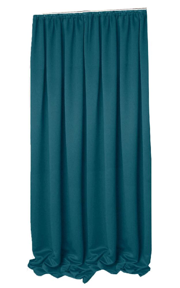 VERDUNKELUNG Vorhang Kräuselband PETROL 140x245 cm #9009