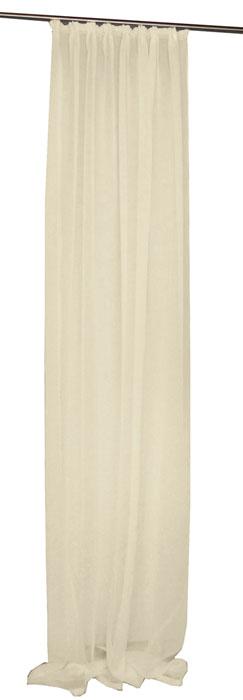 VOILE Gardine LINO Kräuselband CREME 140x245 cm #5039 Halbtransparent