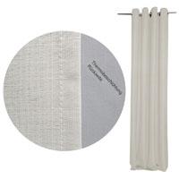 THERMO Vorhang Struktur CREME 140x245 Ösen #9024 Verdunkelung (beige)