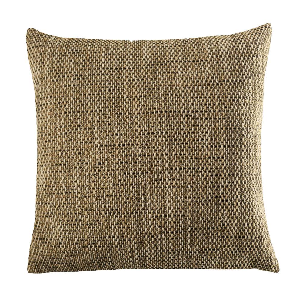 Kissenhülle Grobweb Hellbraun Struktur Kissen grob meliert Sofa Lounge