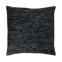 Kissenhülle Grobweb Schwarz Struktur Kissen grob meliert Sofa Lounge