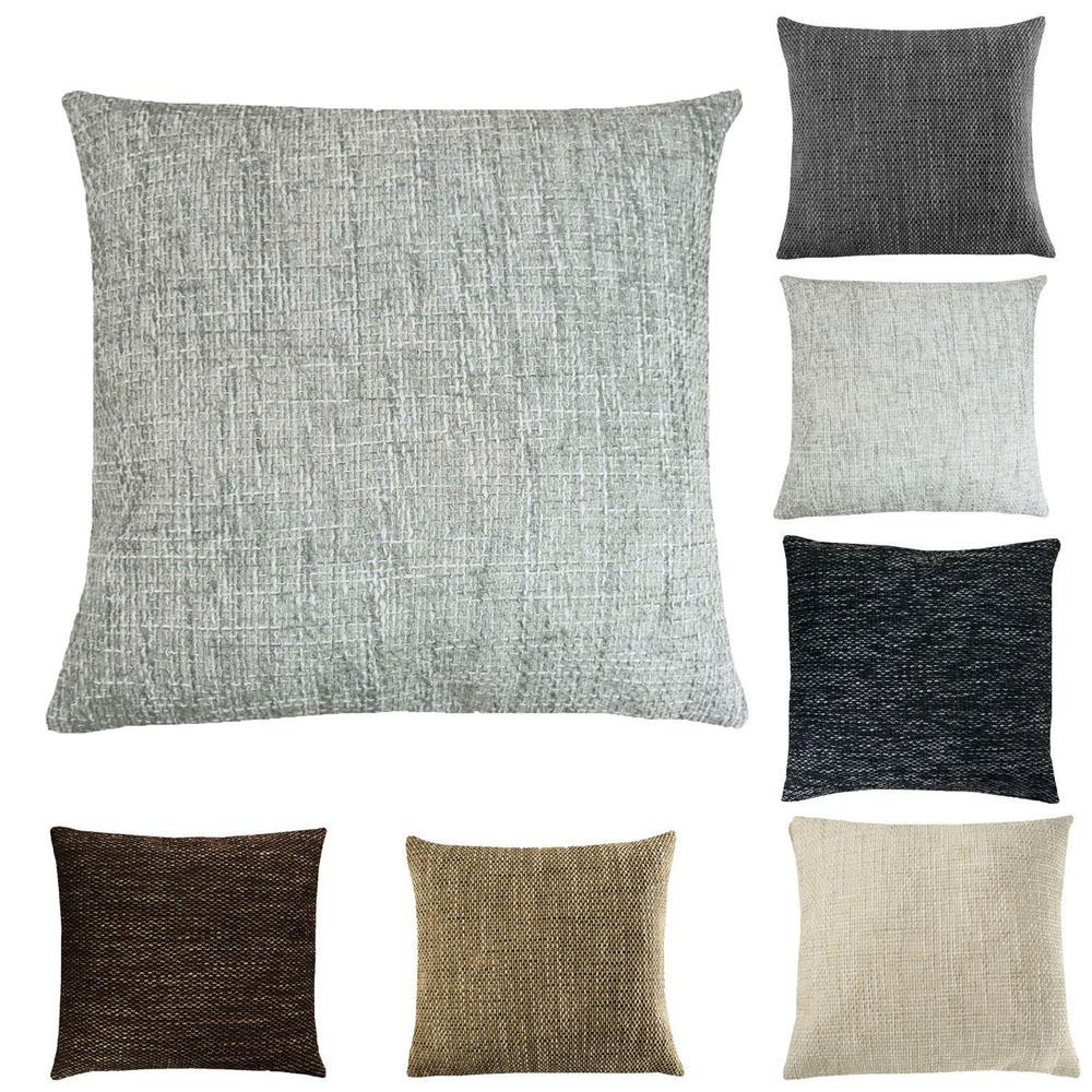 Kissenhülle Grobweb Meliert Struktur Kissenbezug Kissen Sofa Lounge