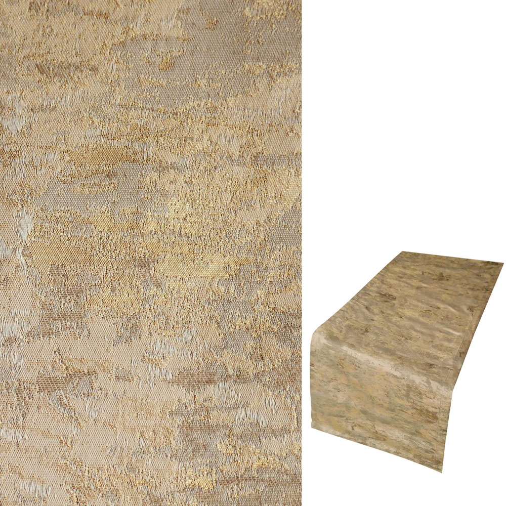 marmoriert metallic effekt tischl ufer 40x140 cm l ufer crash look t rkis beige ebay. Black Bedroom Furniture Sets. Home Design Ideas