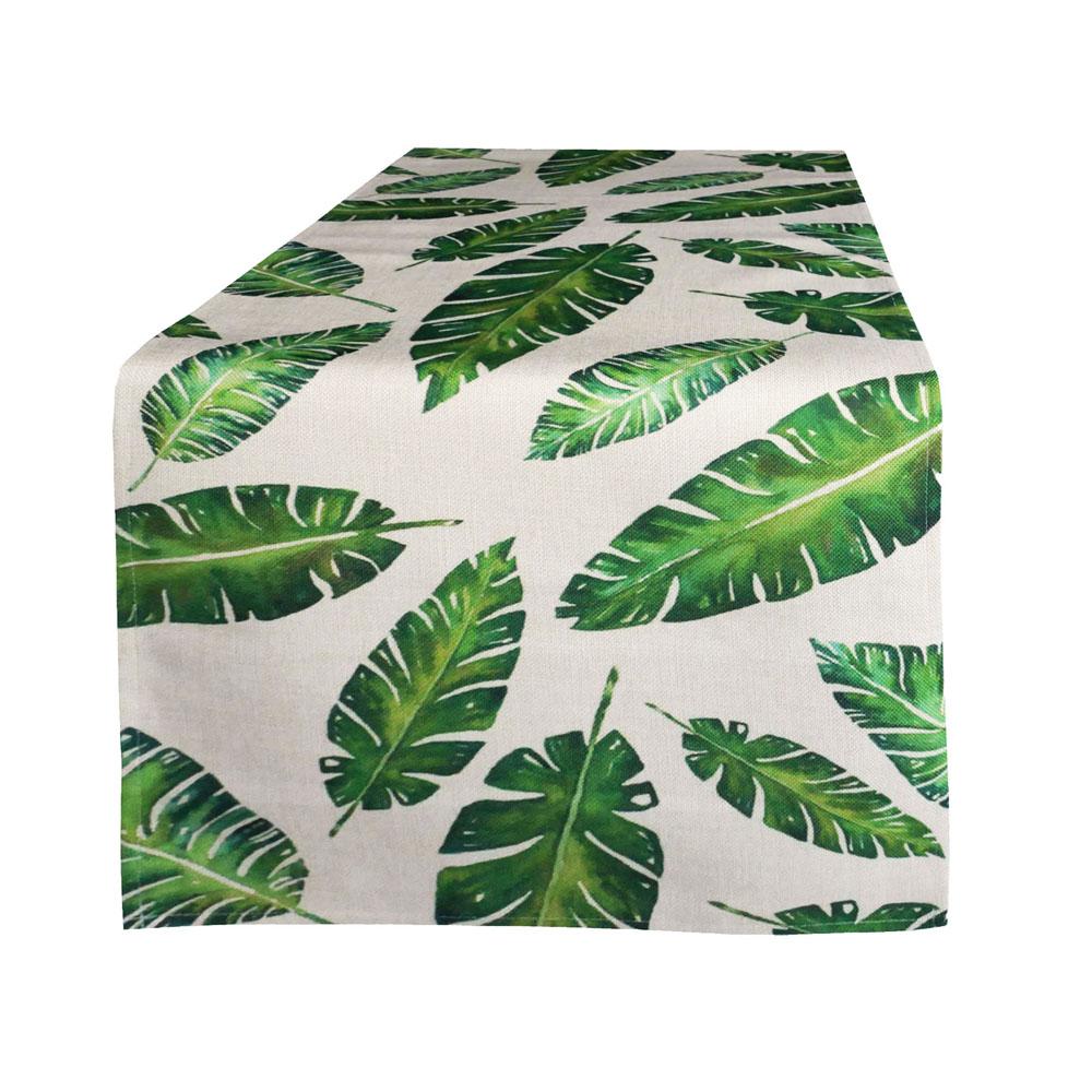 tropic gr n tischl ufer leinenoptik l ufer exotisch. Black Bedroom Furniture Sets. Home Design Ideas