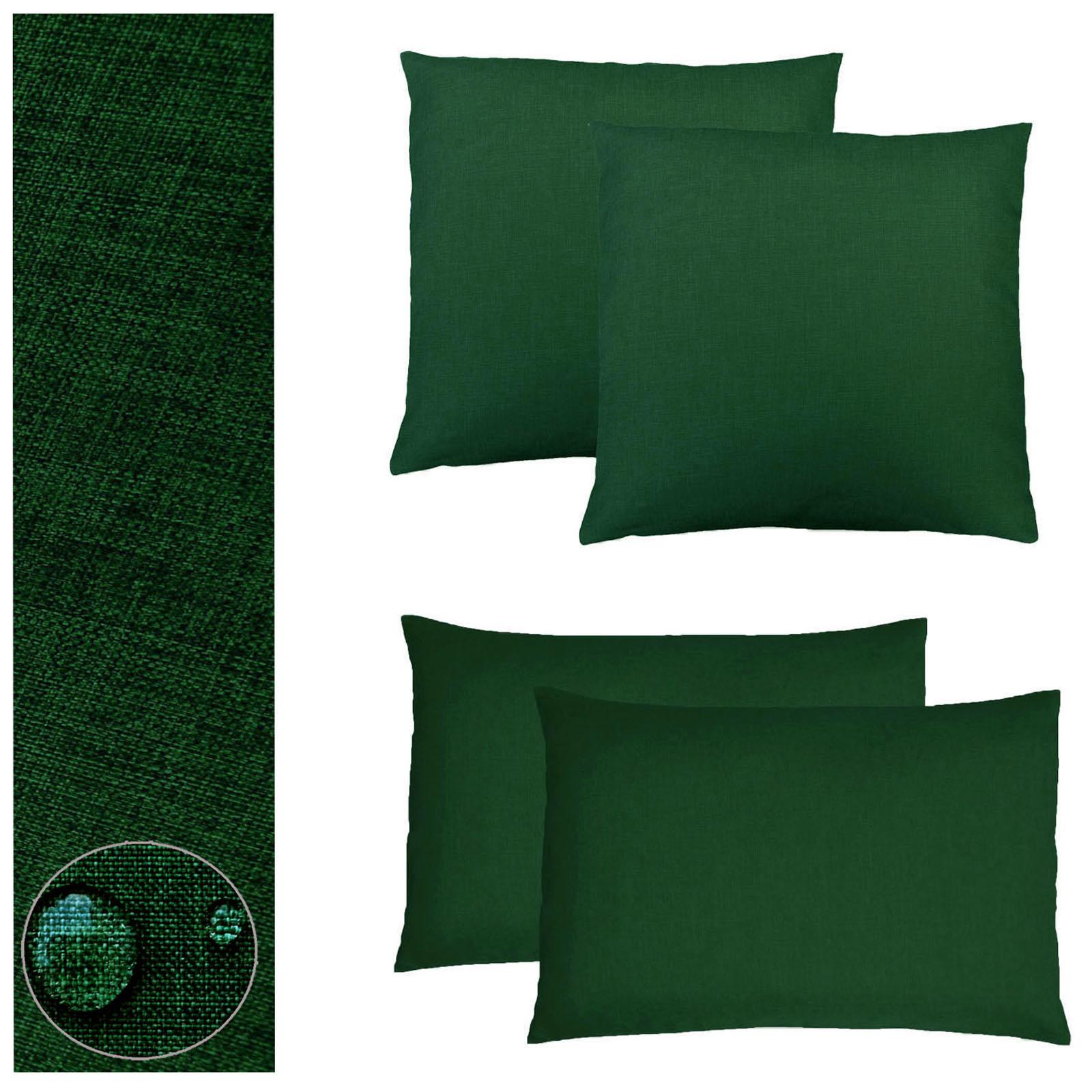 kissenh lle 2 st ck leinen optik 40x40 50x50 40x60 kissenbezug einfarbig lounge ebay. Black Bedroom Furniture Sets. Home Design Ideas