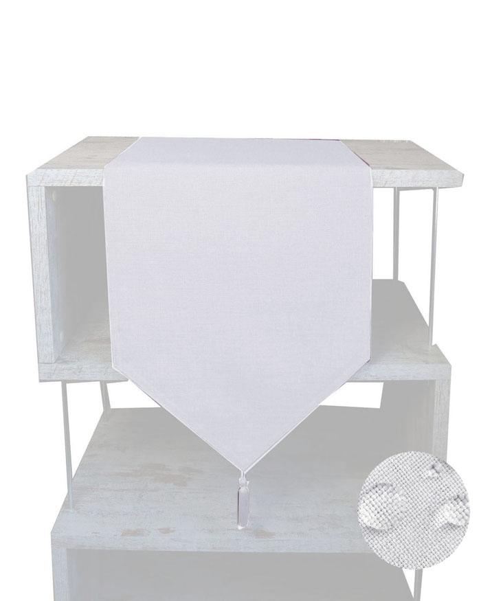 LEINEN Optik Läufer SPITZ 40x140 WEISS