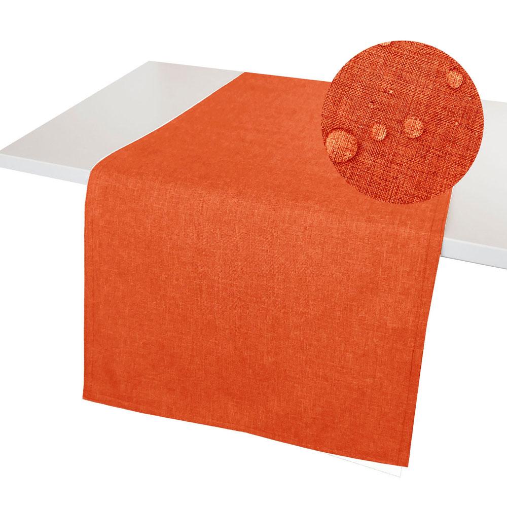 LEINEN Optik Tischläufer TERRA Wende Tischband Fleckschutz WINDSTABIL