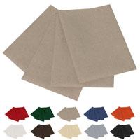 LEINEN Optik 4 St SERVIETTEN 50x50 NATUR-BEIGE Sand ~ Aufleger Classic