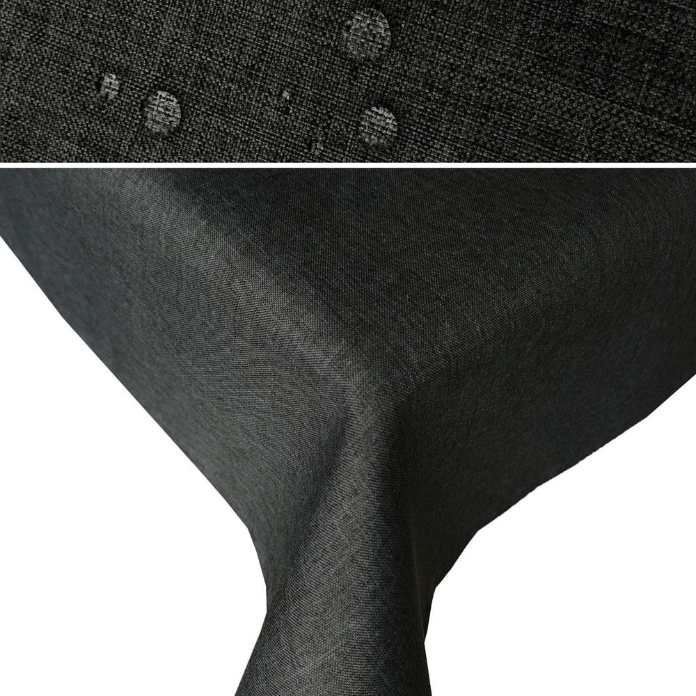 tischdecke leinen optik lotuseffekt eckig rund oval quadratisch stoff b gelfrei ebay. Black Bedroom Furniture Sets. Home Design Ideas