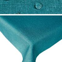 LEINEN Optik Tischdecke Rechteckig PETROL Lotuseffekt Bügelfrei
