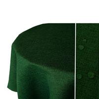 LEINEN Optik Tischdecke Oval DUNKEL-GRÜN Lotuseffekt Bügelfrei