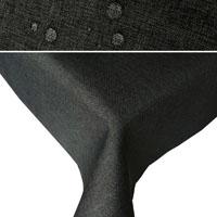 LEINEN Optik Tischdecke Quadratisch DUNKEL-GRAU Lotuseffekt