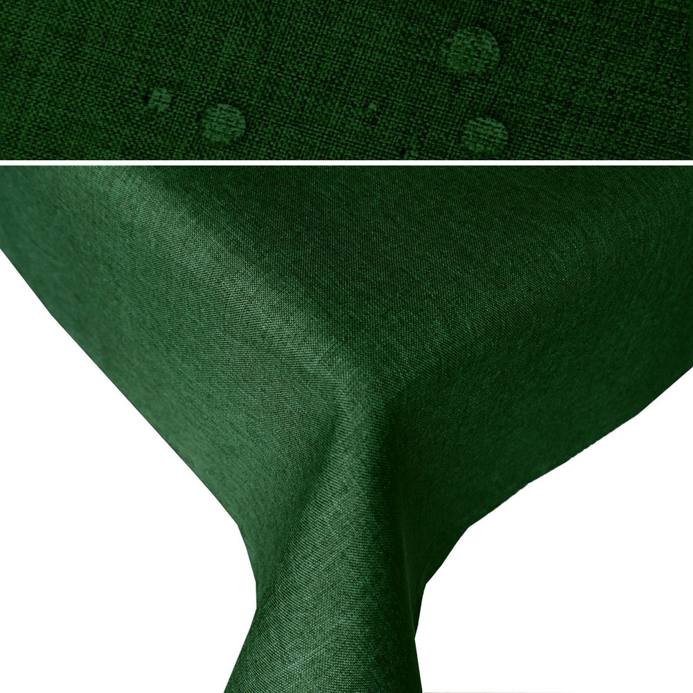 LEINEN Optik Tischdecke Quadratisch DUNKEL-GRÜN Lotuseffekt