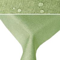 LEINEN Optik Tischdecke Quadratisch HELL-GRÜN Lindgrün Lotuseffekt