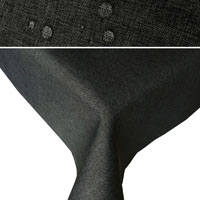 LEINEN Optik Tischdecke Rechteckig DUNKELGRAU Lotuseffekt Bügelfrei