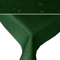 LEINEN Optik Tischdecke Rechteckig DUNKELGRÜN Lotuseffekt Bügelfrei