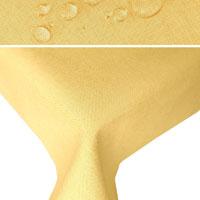 LEINEN Optik Tischdecke Rechteckig HELL-GELB Lotuseffekt Bügelbrei