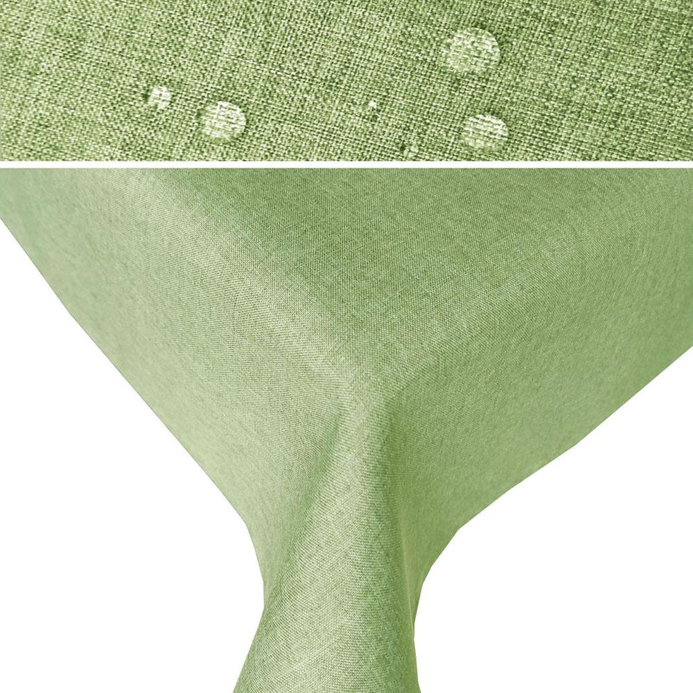 LEINEN Optik Tischdecke Rechteckig HELL-GRÜN Lindgrün Lotuseffekt