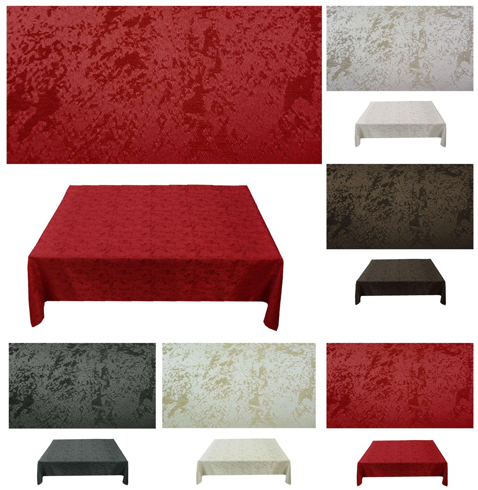tischdecke marmor eckig pflegeleicht b gelfrei marmoriert jaquard ebay. Black Bedroom Furniture Sets. Home Design Ideas
