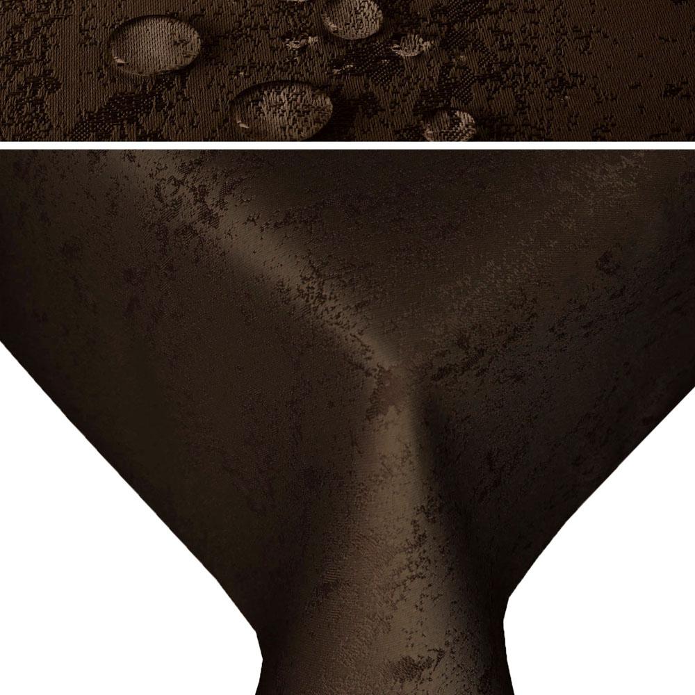 MELIERT Tischdecke Quadratisch DUNKELBRAUN Lotuseffekt Bügelfrei
