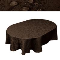 MELIERT Tischdecke Oval DUNKELBRAUN Lotuseffekt Bügelfrei Größenwahl