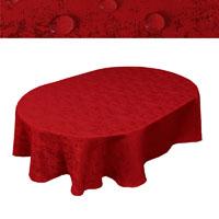 MELIERT Tischdecke Oval ROT Lotuseffekt Bügelfrei Größenwahl
